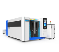High power fiber laser cutter with full cover